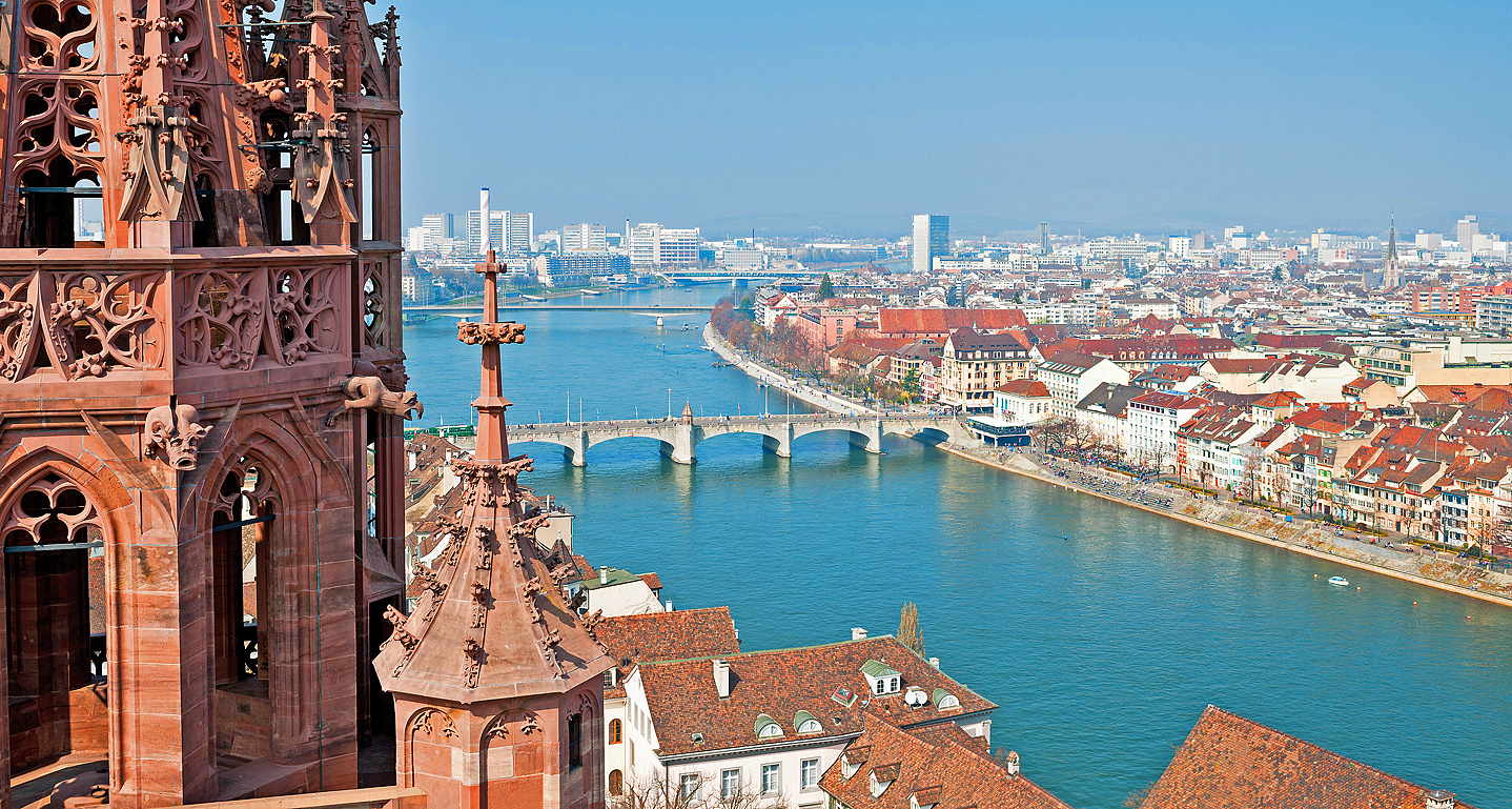 Destinations and sights in Basel city and countryside
